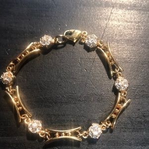 Vintage Swarovski Crystal goldtone bracelet